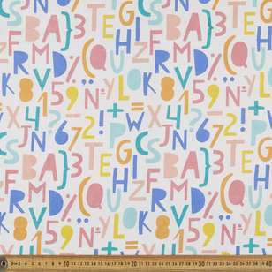 Alphabet Multipurpose Cotton Fabric