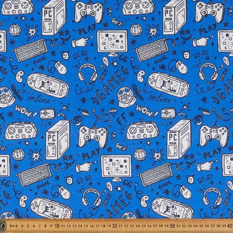 Game On Multipurpose Cotton Fabric
