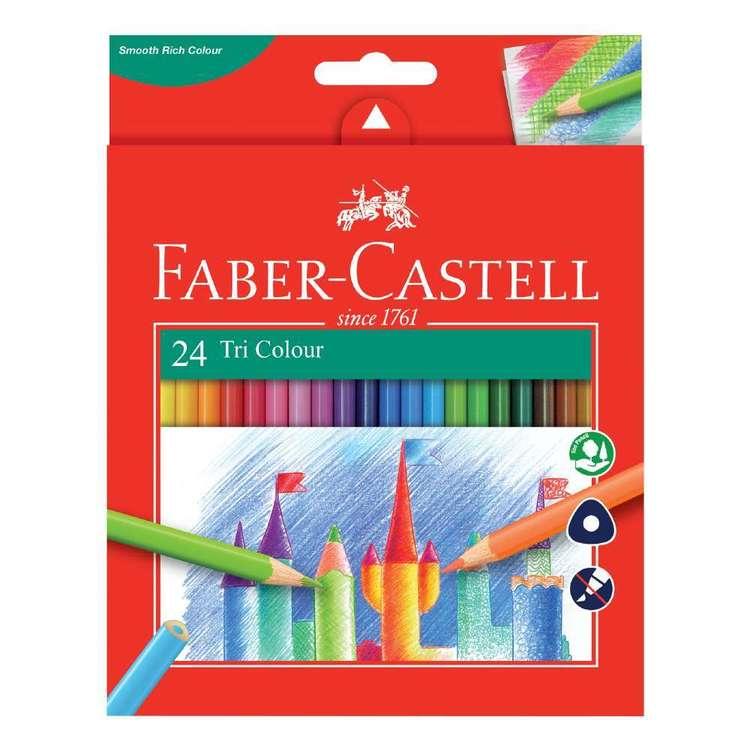 Faber Castell Tri Colour Pencil 24 Pack