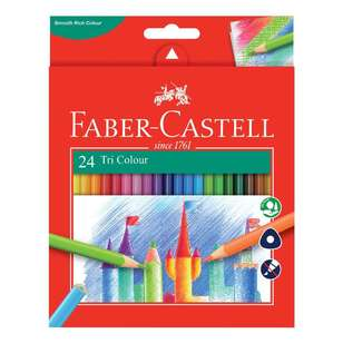 Faber Castell Tri Colour Pencil 24 Pack