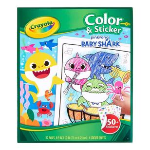 Crayola Baby Shark Colour & Sticker Book