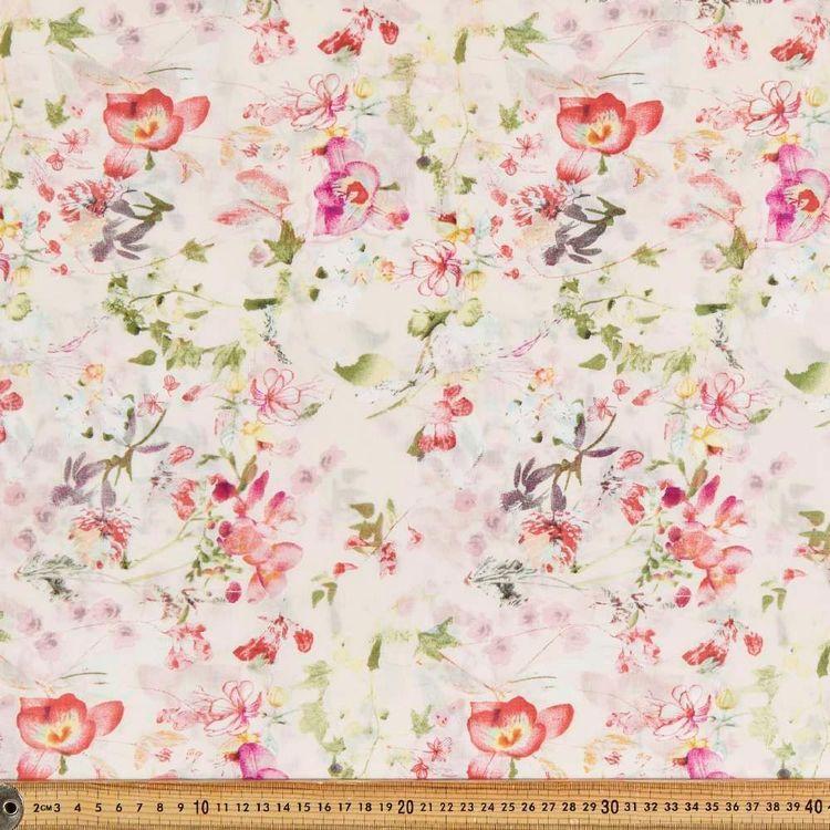 Snuggle Garden Printed 135 cm Muslin Fabric