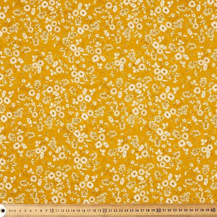 Cute As A Daisy Printed 138 cm Muslin Fabric