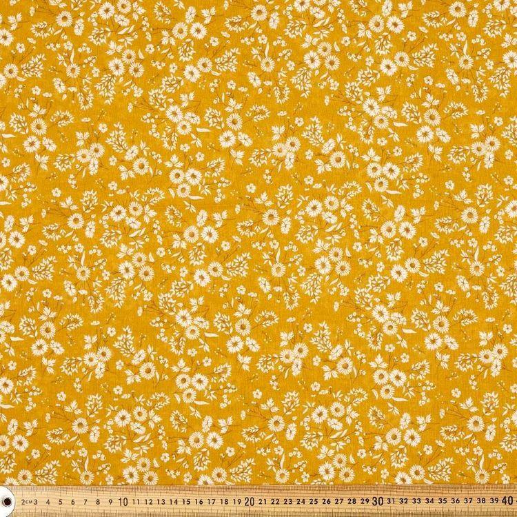 Cute As A Daisy Printed 135 cm Muslin Fabric