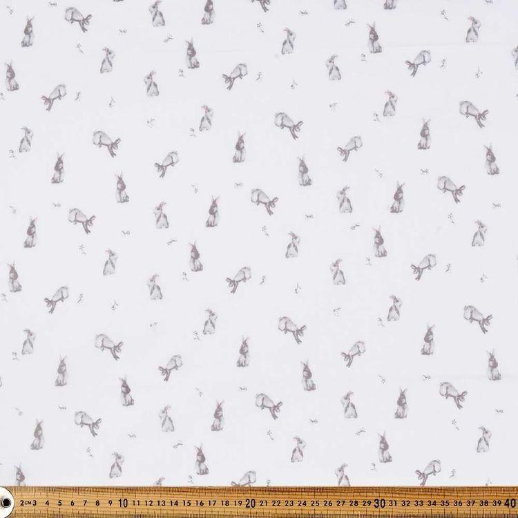 Bunny Luv Printed 135 cm Muslin Fabric