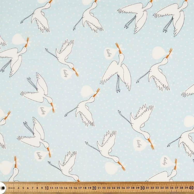 Special Delivery Printed 135 cm Muslin Fabric