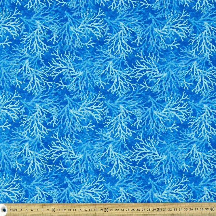Blue Coral Cotton Fabric