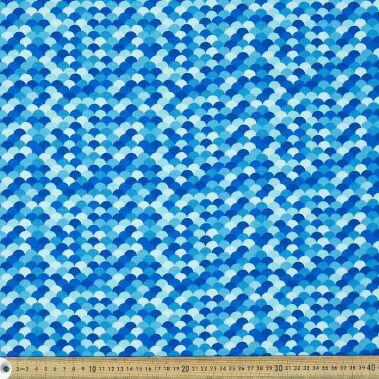 Blue Scales Cotton Fabric
