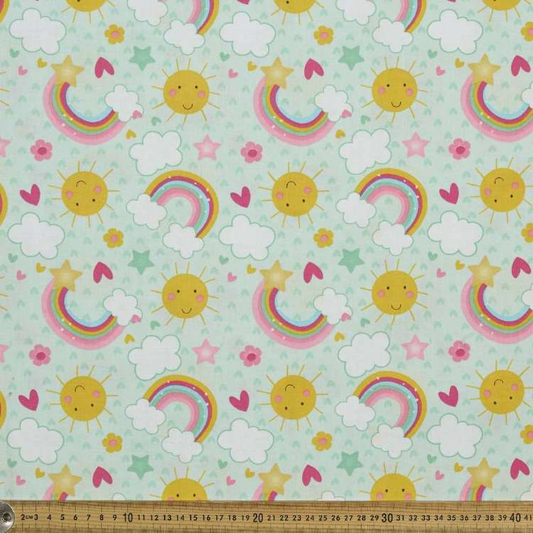 Suns & Rainbows Allover Cotton Fabric