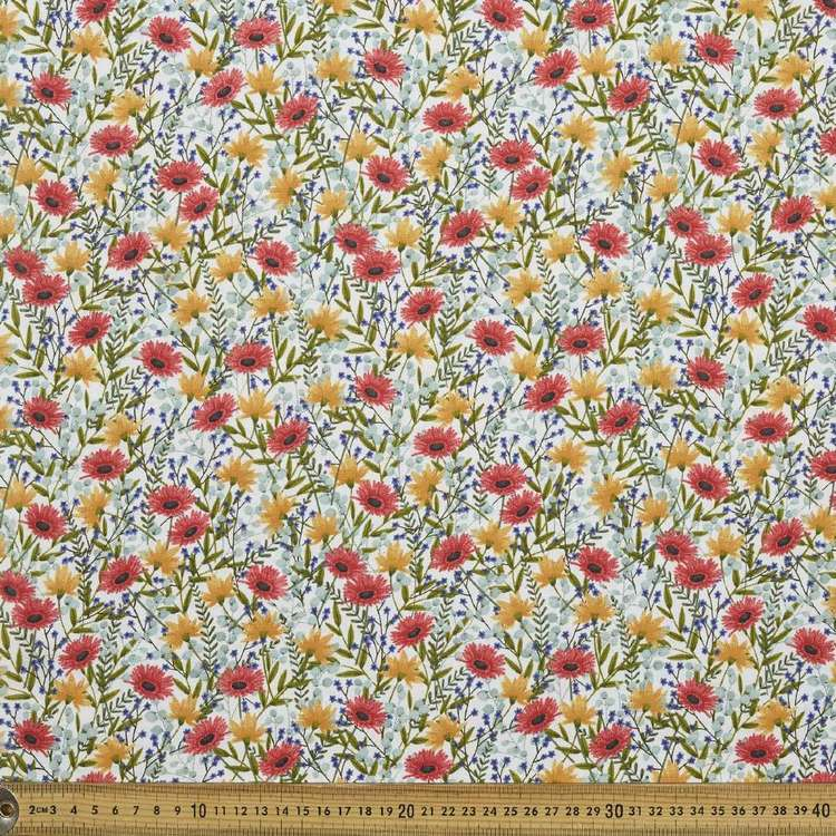 Multi Floral Cotton Fabric