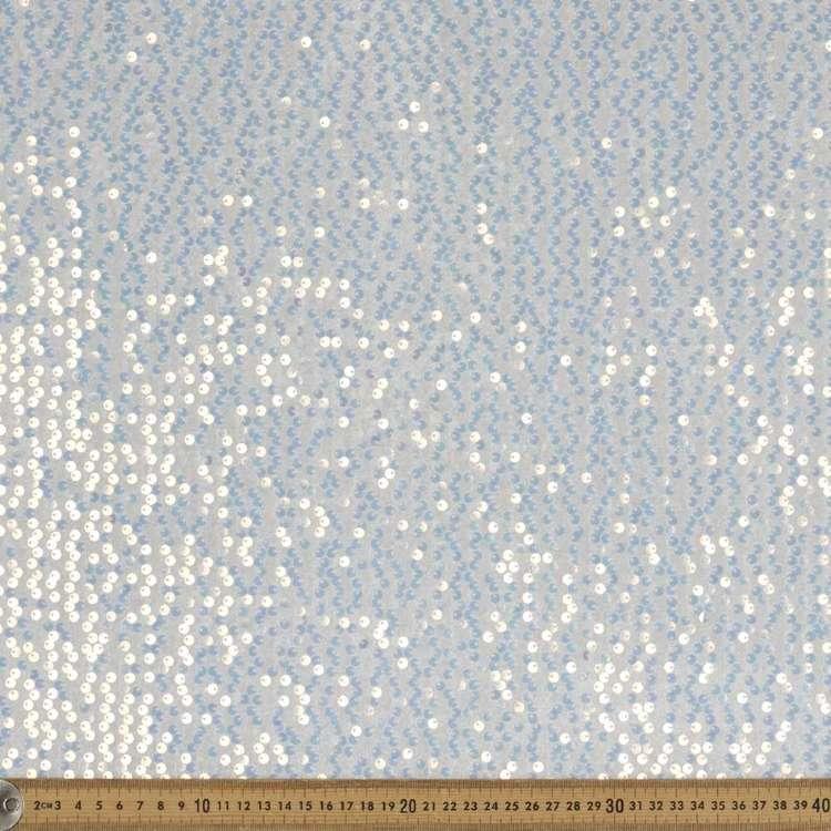 Blue Sequins 70 cm Fabric