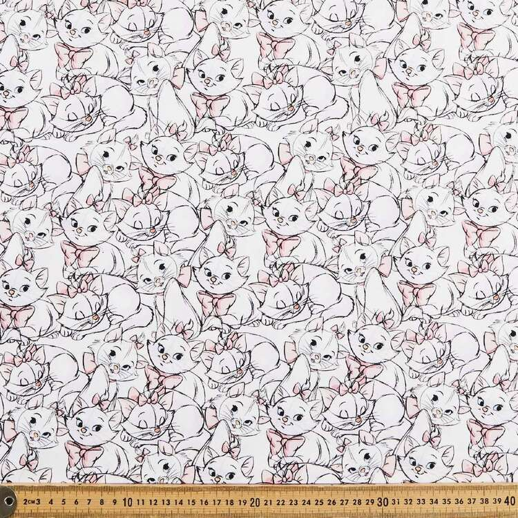 Marie The Cat Allover Cotton Fabric