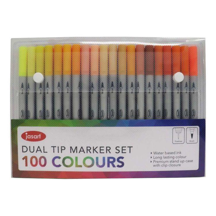 Jasart Dual Nib Marker Set 100 Pack