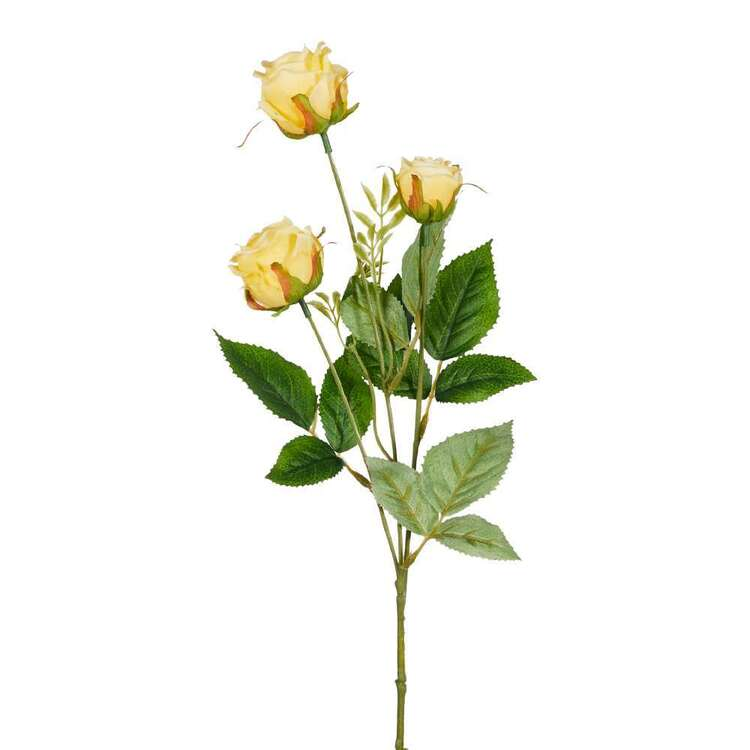 Reliance Rose Bud 3 Spray Floral Stem