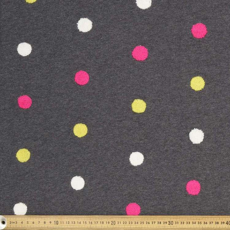 Chenille Spot Marle French Terry Fabric