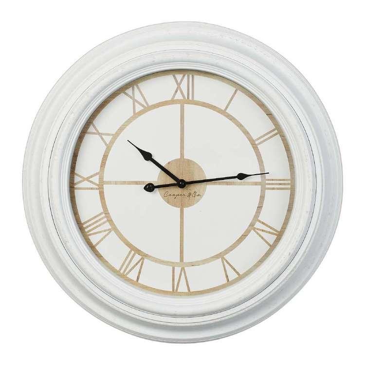 Cooper & Co Roman White Rim Jumbo Clock