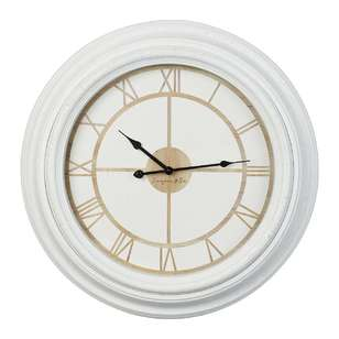 Cooper & Co Roman White Rim Jumbo Clock