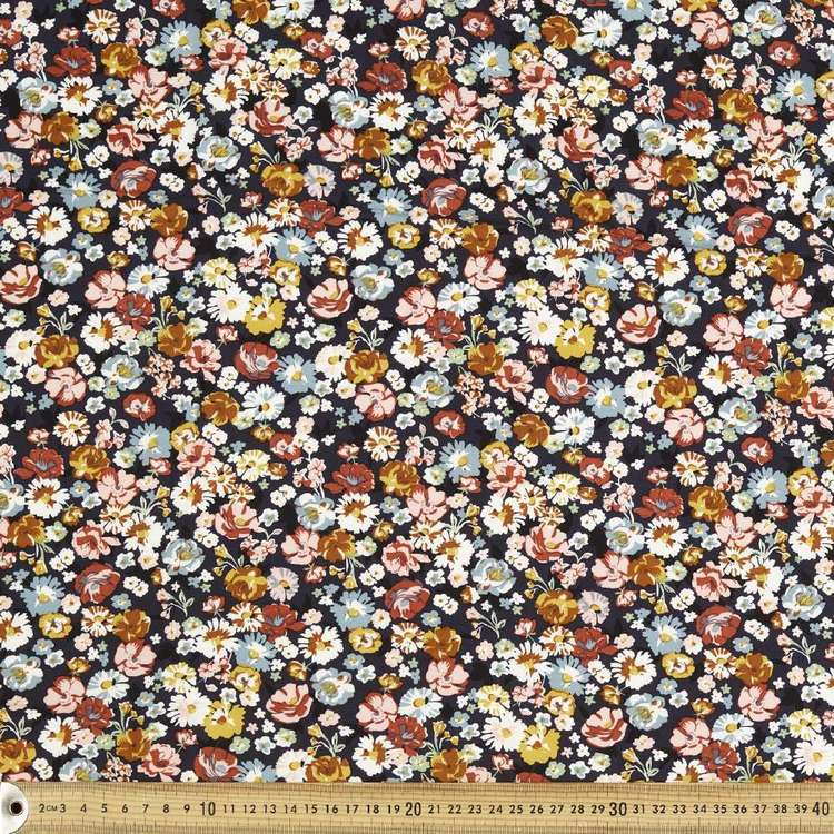 Autumn Tones Printed 135 cm Rayon Fabric