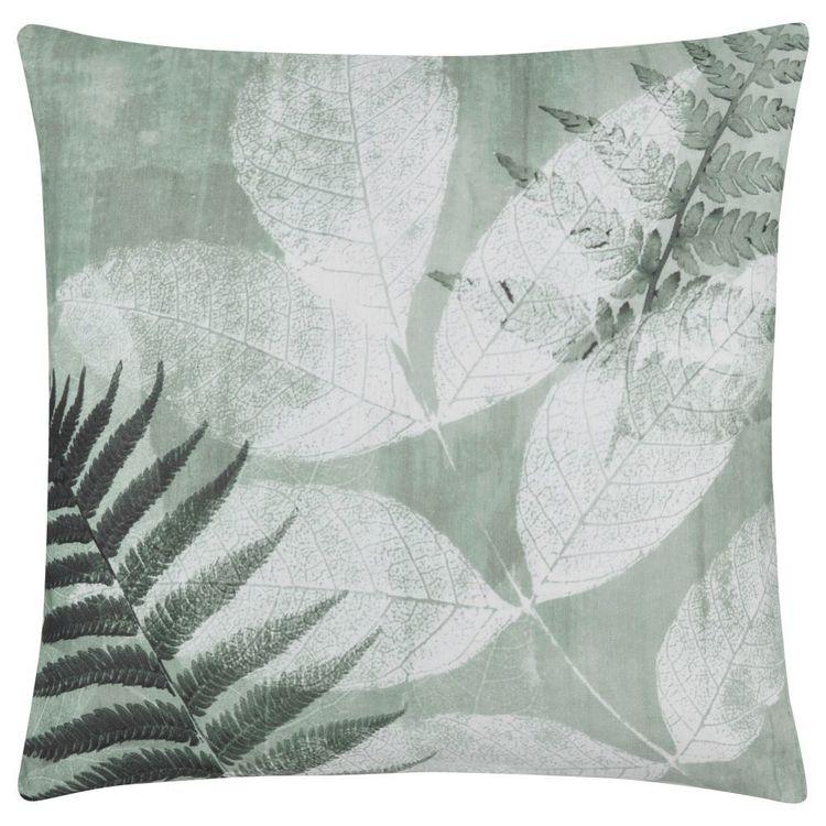 Bouclair Essence Of Green Seda Leaf Cushion