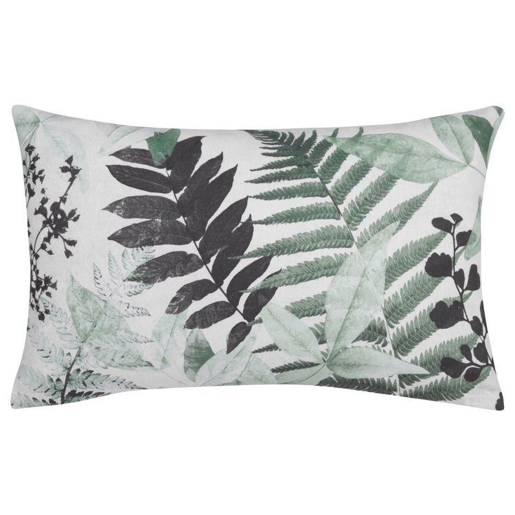 Bouclair Essence Of Green Abi Leaf Lumbar Cushion