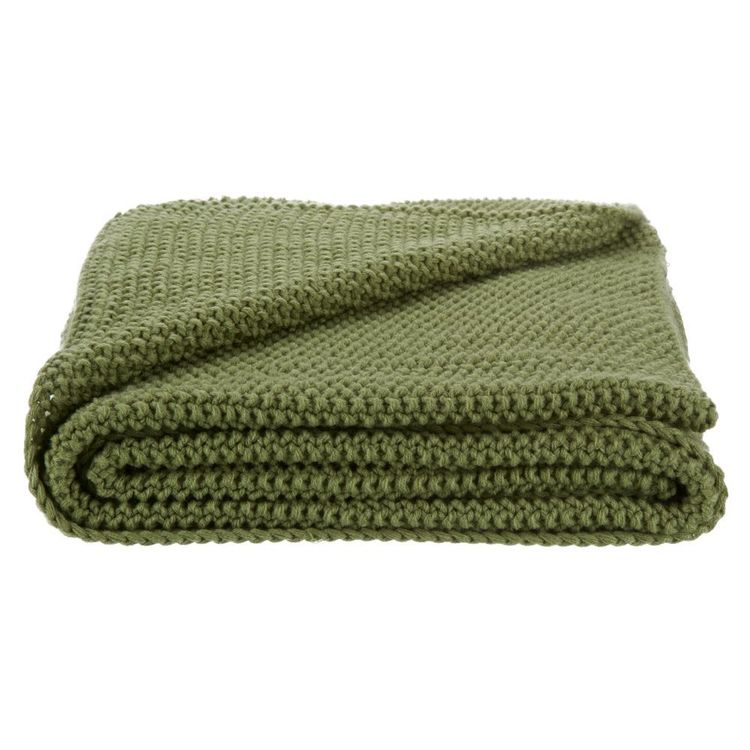 Bouclair Essence Of Green Dalya Knitted Throw