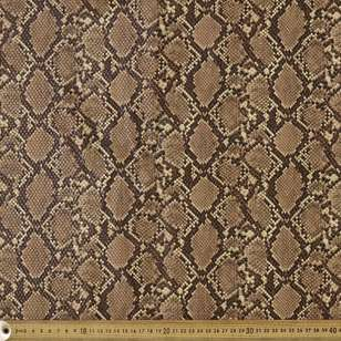 Faux Snake Skin Printed Pleather Fabric