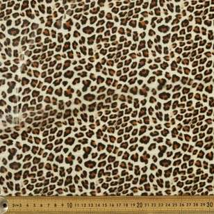 Cheetah Printed Pleather Fabric