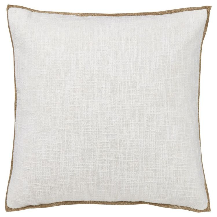 Bouclair Essence Of Green Arlo Jute Trim Cushion