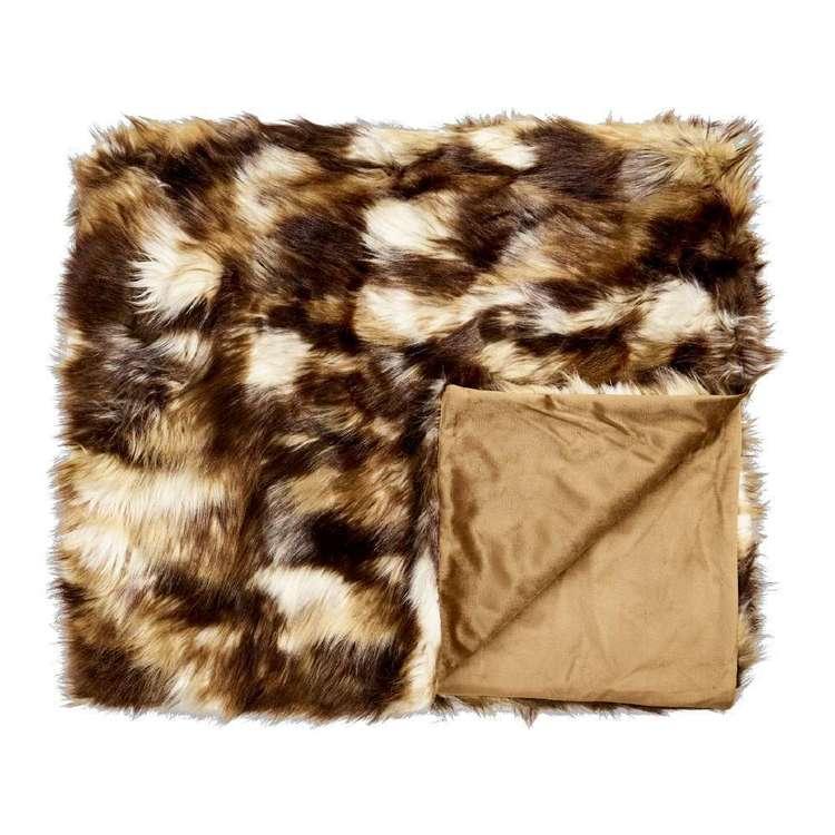 Koo Home Sahara Faux Fur Throw