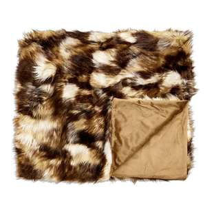 Koo Home Sahara Faux Fur Throw