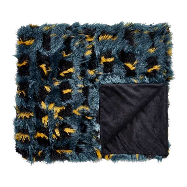 Koo Home Tealia Faux Fur Throw