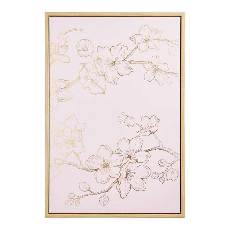 Ombre Home Sakura Bloom Etched Flower Framed Canvas