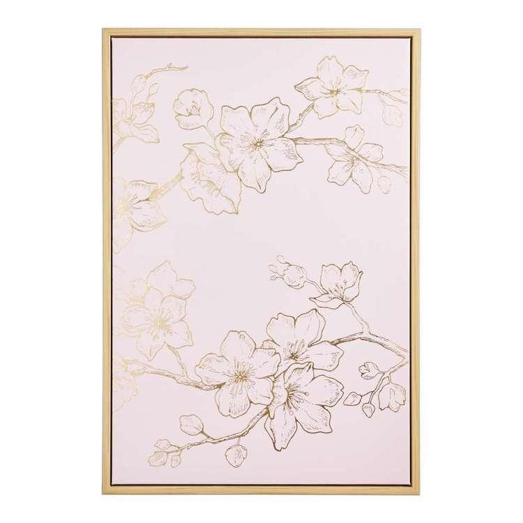 Ombre Home Sakura Bloom Etched Flower Framed Canvas