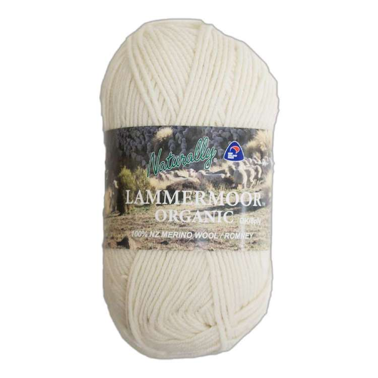 Naturally Lammermoor Organic Wool 8 Ply Yarn