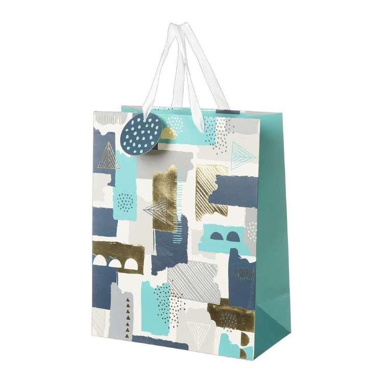 Artwrap Large Geometric Brush Print Bag