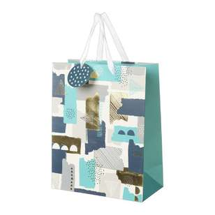 Artwrap Large Geometric Brush Print Bag