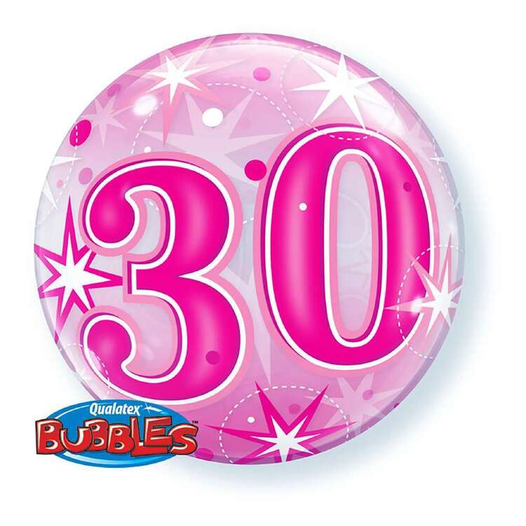 Qualatex 30th Starburst Sparkle Bubble Balloon