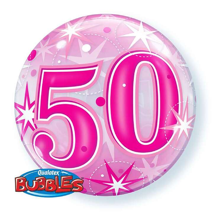 Qualatex 50th Starburst Sparkle Bubble Balloon