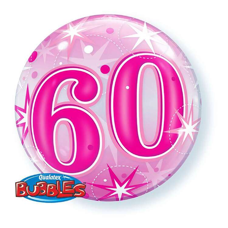 Qualatex 60th Starburst Sparkle Bubble Balloon