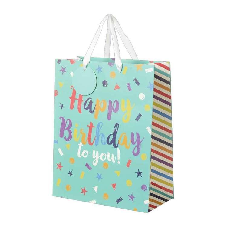 Artwrap Large Happy Birthday Bag