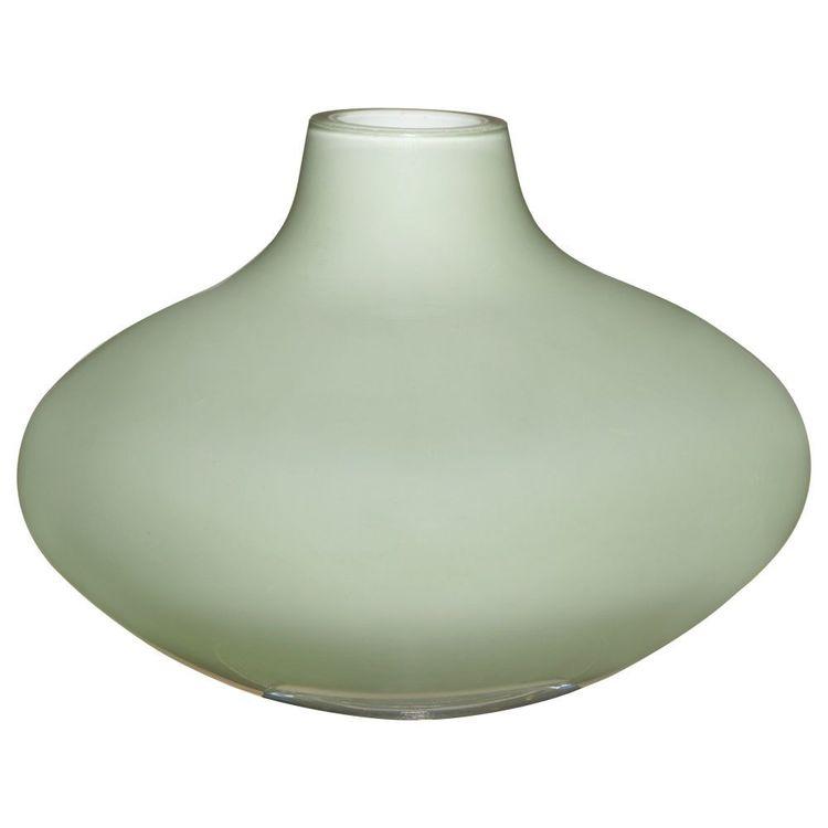 Bouclair Essence Of Green Glass Bud Vase