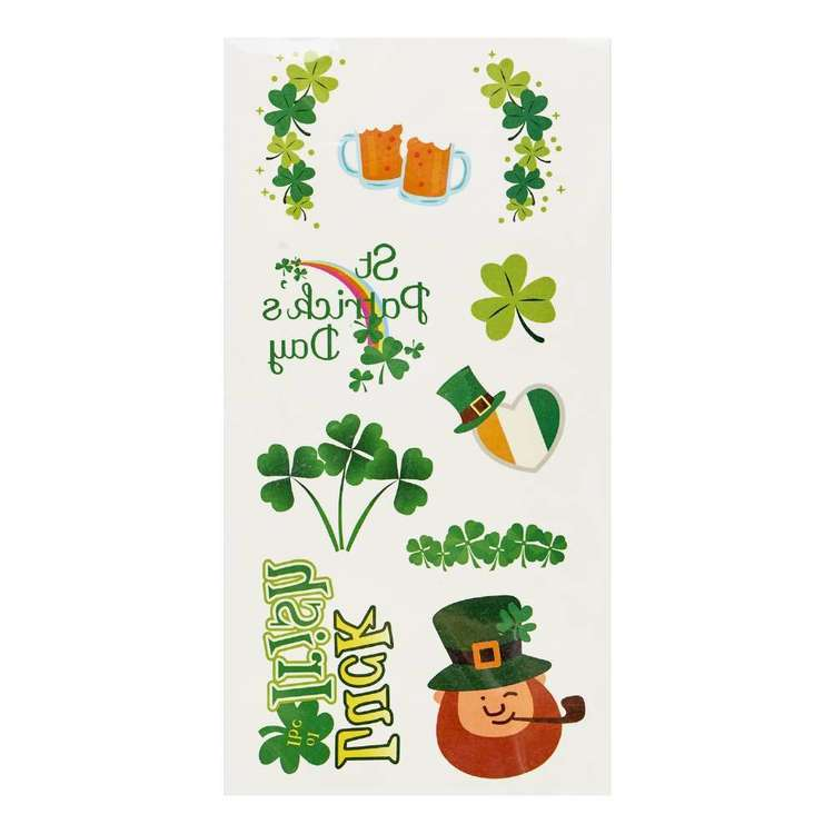 St. Patrick's Day Fake Tattoos 10 Pack