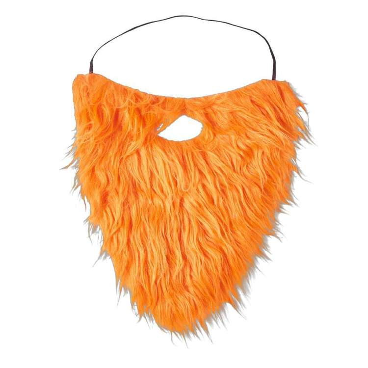 St. Patrick's Day Orange Beard & Moustache