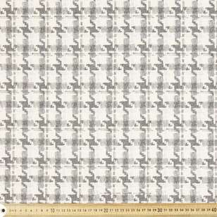 Wool Blend Houndstooth Printed Suiting Fabric