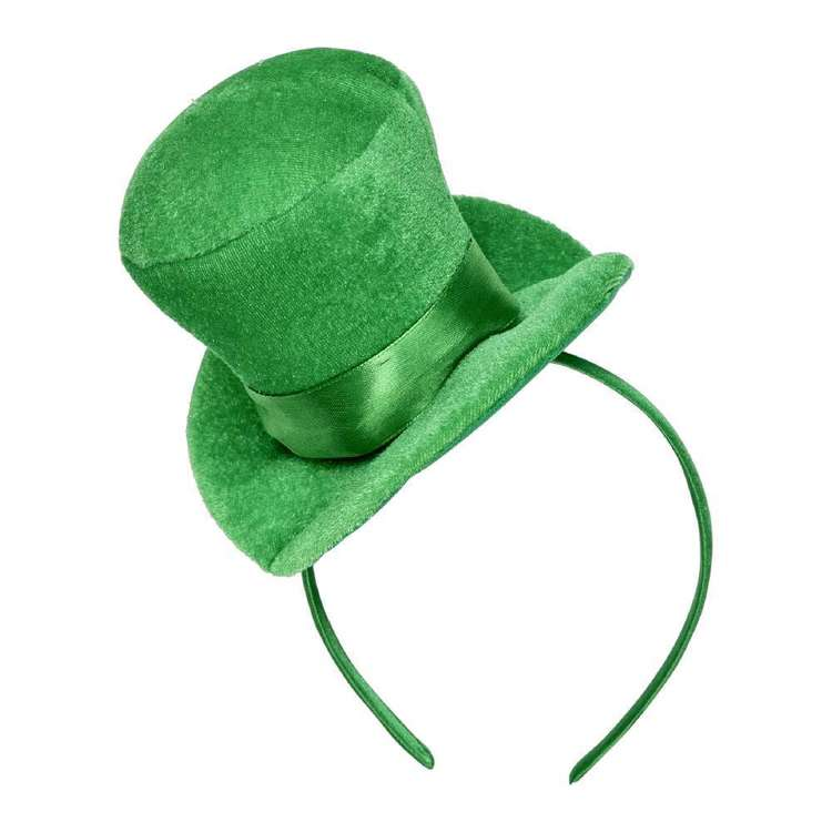 St. Patrick's Day Top Hat Headband Green