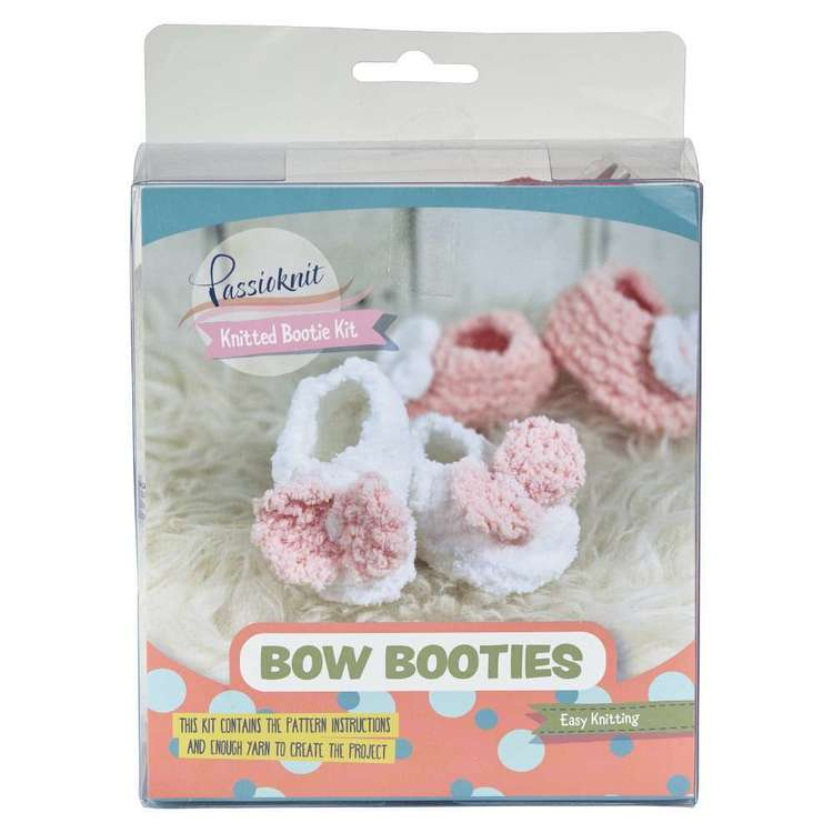 Passioknit Baby Bow Booties Yarn Kit