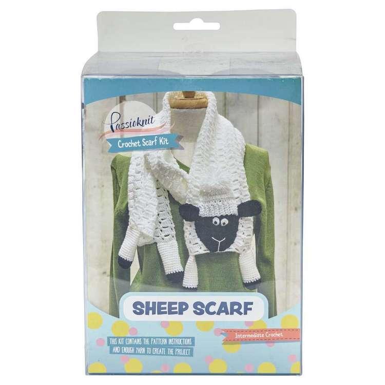Passioknit Sheep Crochet Scarf Acrylic Yarn Kit