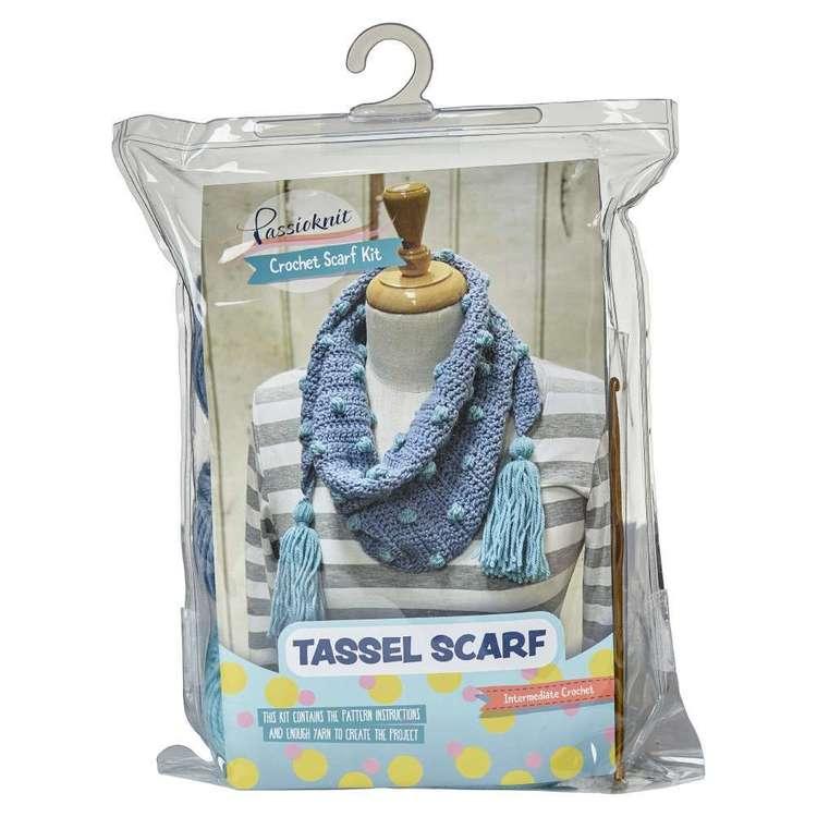 Passioknit Tassel Scarf Wool Yarn Kit
