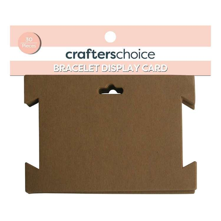 Crafters Choice Bracelet Jewellery Display Card  Brown