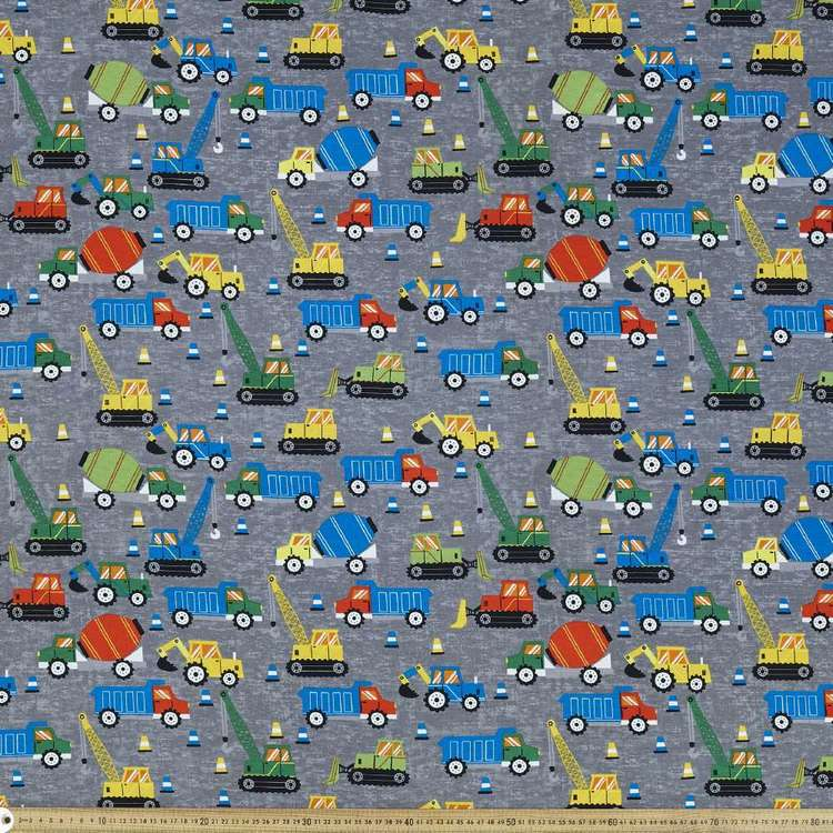 Heavy Lifters Printed 112 cm Cotton Duck Fabric
